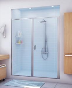Phòng tắm kính 1 mặt