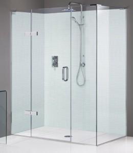 Phòng tắm kính 2 mặt góc vuông