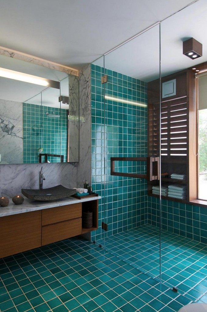Courtyard House Ahmedabad India Bathroom Shower Glass Room 680x1024